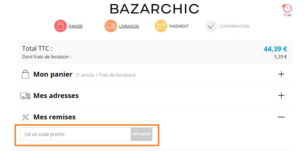 Comment utiliser un code promo Bazarchic valide ?