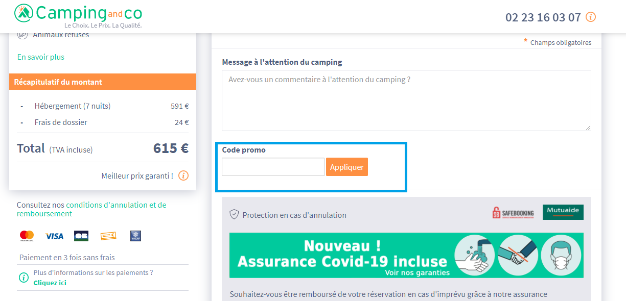 Comment utiliser un code promo Camping and Co valide ?