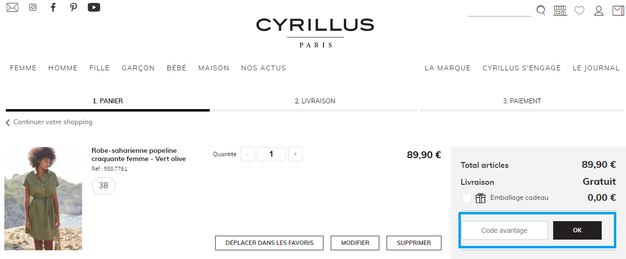 Comment utiliser un code promo Cyrillus valide ?
