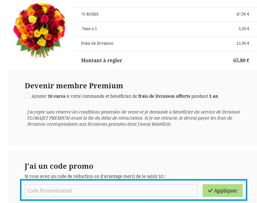 Comment utiliser un code promo Florajet valide ?