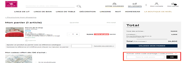 Comment utiliser un code promo Françoise Saget valide ?