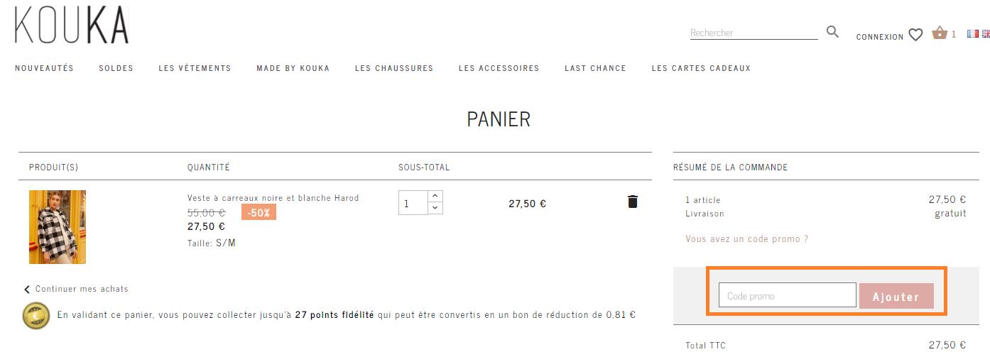 Comment utiliser un code promo Kouka Paris valide ?