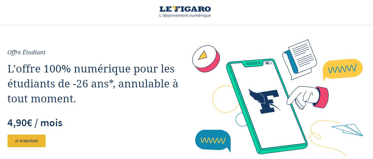 Comment économiser sur Le Figaro Etudiant ?