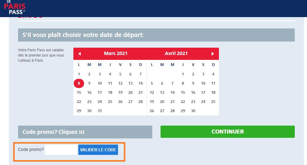 Où mettre un code promo Le Paris Pass valide ?