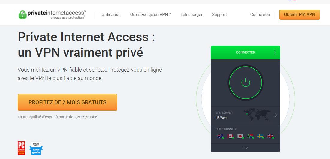 Comment accéder au service Private Internet Access VPN ?