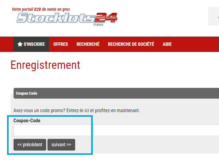 Comment utiliser un code promo Stocklots24 valide ?