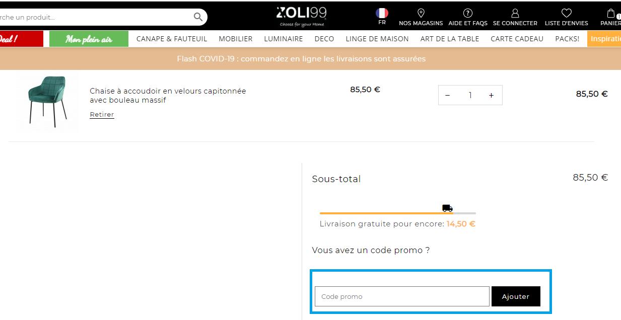 Comment utiliser un code promo ZOLI99 valides ?