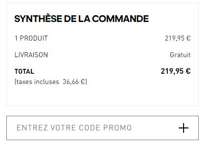 Où mettre un code promo Adidas ?
