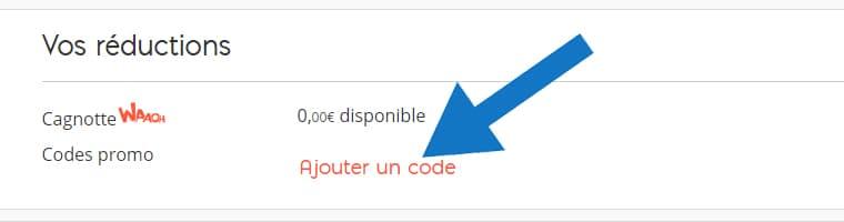 Où mettre un code promo Auchan Direct ?