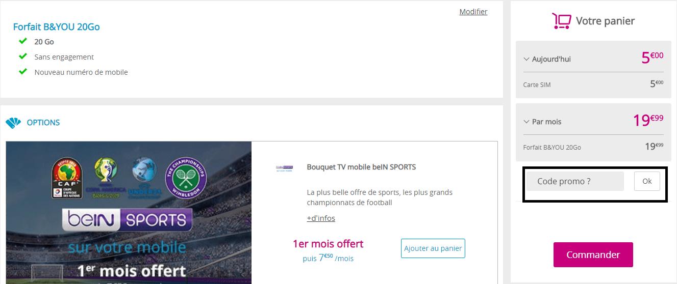 code promo bouygues carte sim Code Promo Bouygues Tele  B&YOU | réduction de jusqu'à 8€ en