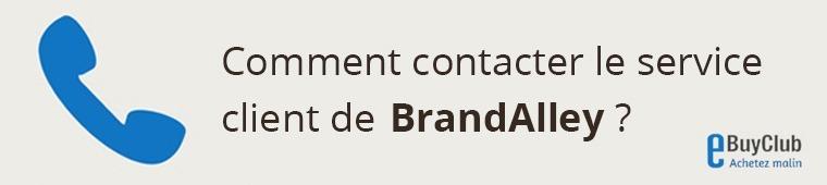 Comment contacter le service client BrandAlley ?