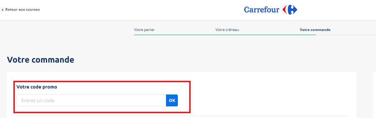 Où mettre un code promo Carrefour ?