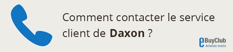 Comment contacter le service client Daxon ?