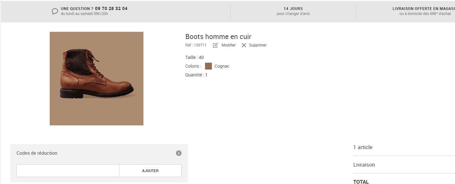 Où mettre un code promo Devred ?