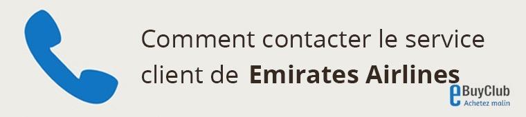 Comment contacter le service client Emirates Airlines ?