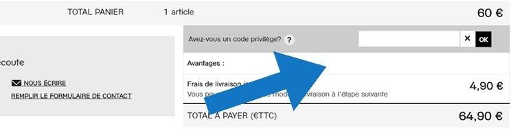Où mettre un code promo Galeries Lafayette ?