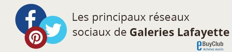 Quels réseaux sociaux pour Galeries Lafayette ?