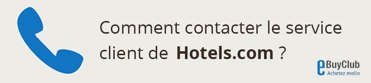 Comment contacter le service client Hotels.com ?
