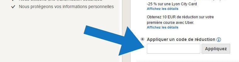 Où mettre un code promo Hotels.com ?