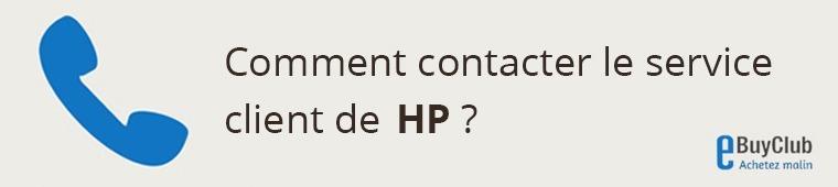Comment contacter le service client HP ?