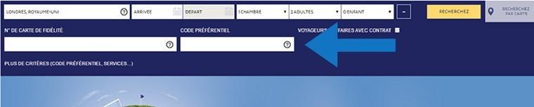 Où mettre un code promo Novotel ?