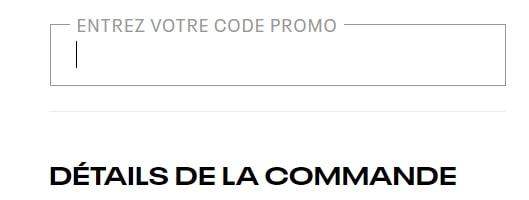 Où mettre un code promo Reebok ?