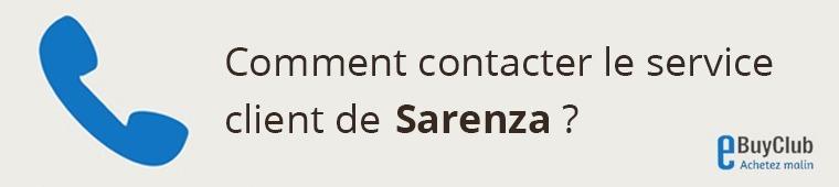 Comment contacter le service client Sarenza ?