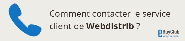 Comment contacter le service client Webdistrib ?
