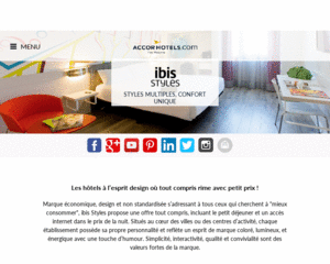 Vue accueil Hotels Ibis Style