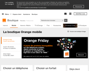 Vue accueil Orange Mobile